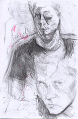watch me (JENS01) Tags: zeichnung kohle papier bleistift drawing sketching painting malerei skizze sketchbook art kunst graphite pencildrawing paperwork urban doodle l oil tusche portrait