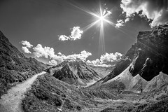 the mountains (Schub@) Tags: montafon berge gebirge alpen mountains sw bw schwarz weiss black white landschaft landscape sony a6000 alpha nex e samyang walimex 8mm f28 emount ilce6000