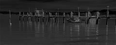 NIght Pier ... (sswj) Tags: bw night nightphoto pier fishingpier chinacamp sanrafael sanpablobay marincounty northerncalifornia california composition availablelight existinglight scottjohnson dslr fullframe nikon d600 nikkor28300mm historicpier