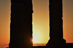 Standing Upright  For Thousand Years Resisting Time (Kotsikonas Elias) Tags: architecture column sunset athens greece nikon nikond3300