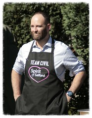 The Man of the Moment (KeithJustKeith) Tags: keithjustkeith keithjustkeith2016 2016 paul dennett salford mayor bake off big day out canon eos 100d people outdoor shirt sportswear