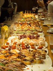Basque pintxos (Alejandro Hernndez Valbuena) Tags: anchovies bacalao bar basque bilbao bread country cuisine culinary delicious donosti donostia europe fish food gastronomy gipuzkoa guipuzcoa ham iberico jamon meal meat native north pincho pintxo pintxos plate pleasure pork red restaurant salmon san sandwich sebastian serrano slice snack spain spanish tapa tapas tavern tomato tourism traditional travel typical vasco