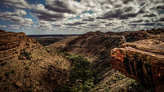 i'm king canyon (Anthony Canavero) Tags: sky landscape red desert nature oldriver rock curve way view australia cloudy nothernterritory valley outdoors redcentre cliff panoramic wild mountain canyon famous landmark shoe kingscannyons wilderness scenic destinations cloud travel