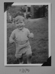 (Kelvin P. Coleman) Tags: canon powershot nottingham emotion grief bereavement grieving bereft sad sadness loss rip vintage family photo picture album memory memento souvenir child people portrait frame rephotography meta bw noiretblanc schwarzweiss blancoynegro 1940s print writing date indoor