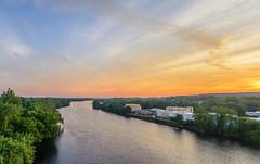 _DSC0162-Pano (johnjmurphyiii) Tags: 06457 arrigoni bridge clouds connecticut connecticutriver dawn middletown originalnef sky summer sunrise tamron18270 usa johnjmurphyiii pano panorama stitch