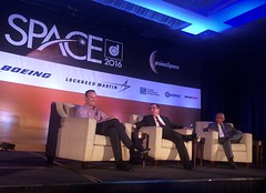 Opening Plenary at AIAA 2016 with NASA Administrator Bolden and Air Force Space Director Beauchamp (jurvetson) Tags: aiaa space 2016 conference nasa administrator airforce winston beauchamp charles bolden long beach
