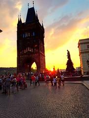 Praga - Carlo bridge (lucio_Kayak) Tags: praga ponte tramonti
