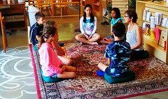 Kids meditate during Class at Kadampa Center (cbb4104) Tags: childrensclass class leadership elise kadampa meditation