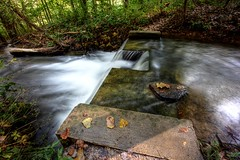Farewell Summer (KC Mike D.) Tags: exposure long creek stream leaves fall autumn sanctuary parkville missouri season change leaf nature