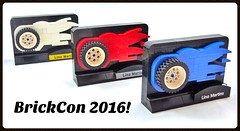 BrickCon 2016 Model Team Trophies! (Lino M) Tags: lego brickcon model team trophies red white blue flames fire wheels tires cars trucks bikes trophy lino martins 2016 motors seattle ftw first second third place winner winners