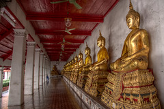 Wat Ratcha Natdaram Worawihan (pbr42) Tags: thailand bangkok temple religion art buddhist buddha hall hallway architecture wat watratchanatdaramworawihan hdr