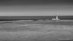 Roker Pier And Lighthouse Mono (robinta) Tags: roker sunderland lighthouse pier historic blur building architecture pentax sigma18200mmhsmc ks1 mono monochrome blackwhite blackandwhite sea sky