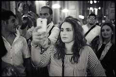 (iMiracle) (Robbie McIntosh) Tags: leicamp leica mp rangefinder streetphotography 35mm film pellicola analog analogue negative leicam summilux analogico leicasummilux35mmf14i blackandwhite bw biancoenero bn monochrome argentique summilux35mmf14i autaut dyi selfdeveloped filmisnotdead strangers candid arsimagofd arsimagofddeveloper kodaktrix kodak trix girl woman iphone duomo miracle bokeh f14 wideopen glow