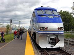 Homeward bound (delticfan) Tags: amt agencyofmontrealtransportation commuter commutertrain pushpull f59phi saintconstant