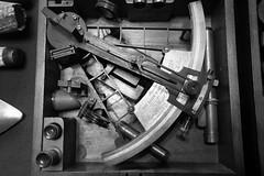 nautical instruments 02 (byronv2) Tags: nautical antique nauticalinstruments navigation naval navy maritime history sextant blackandwhite blackwhite bw monochrome technology science doorsopenday doorsopenday2016 trinityhouse leith edinburgh edimbourg