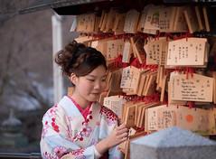 Real interest (Dmitry_Pimenov) Tags: girl japan japanese dress kyoto kimono awesome beautiful travel trip traditions asia kiyomizu kinku orient smile