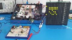 GPS-controlled flip dot display and power supply (claudius9uk) Tags: electronics gps flipdot display