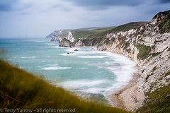On Dunghy Head (Terry Yarrow) Tags: uk longexposure light sea england blur canon walking landscape coast movement thrift dorset possibles jurassiccoast eos5d dorsetcoastpath stoswaldsbay manowarbay bigstopper