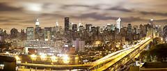 Manhattan (banpreso) Tags: longexposure newyork night downtown metro midtown empirestatebuilding manhattanqueensborobridge