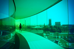 """Your Rainbow Panorama"" by Olafur Eliasson at the ARoS () Tags: panorama denmark view balticsea walkway aros artmuseum scandinavia olafureliasson aarhus zoomlens 360 northerneurope m43 colorsoftherainbow mirrorless microfourthirds olympusmzuikodigitaled14150mmf4056 yourrainbowpanorama olympuspenep3"
