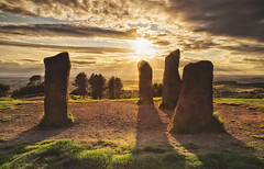 Four Stones of Clent (Vemsteroo) Tags: light sunset summer england coral canon evening countryside construction view britain dusk stones wide warmth tranquility hills minerals vista manmade 5d balance worcestershire magichour clent mkiii mk3 beautyinnature 24105mm ndgrad leefilters