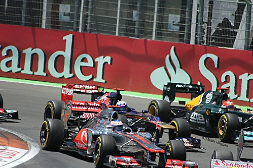 Jenson Button in action in his McLaren F1 car during the 2012 European Grand Prix at Valencia