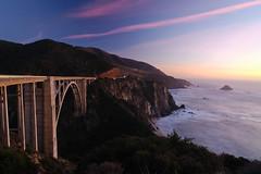 Bixby Bridge Sunset (christopherdale) Tags: california bigsur bridge bixbybridge sunset coast pacific clouds twilight nikon d200 tokina1224 15fav 510fav
