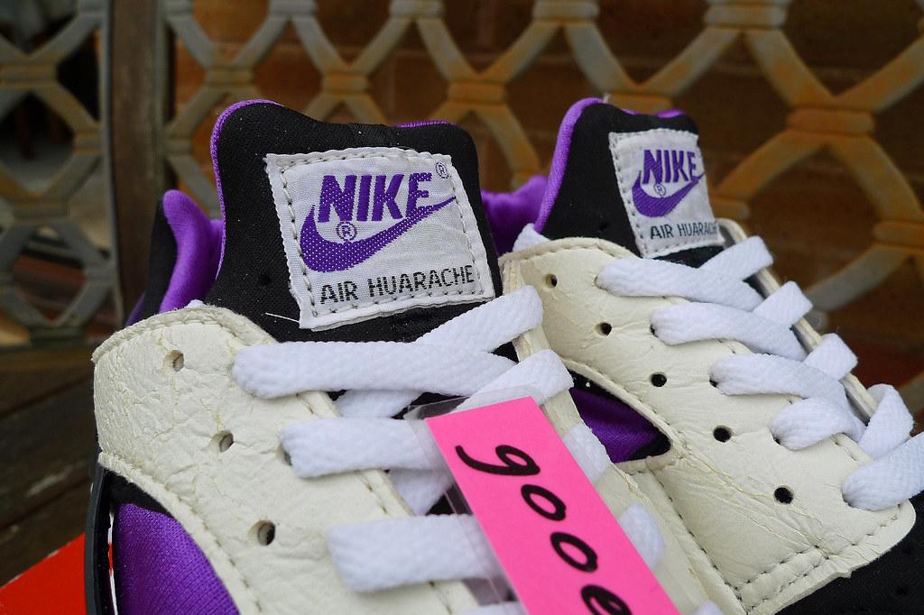 Nike Air Huarache 'White / Black - Purple Punch' (2092) ('