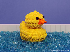LEGO Rubber Ducky (bruceywan) Tags: street toy duck bath lego sesame bruce rubber ducky tub photostream lowell moc lowellsphere brucelowellcom