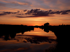 ... (Arkadious) Tags: sunset summer sun set river landscape poland polska polen lodz ner d lodzkie lutomiersk dzkie