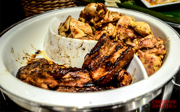 Grilled pork liempo and chicken at Cafe Jeepney