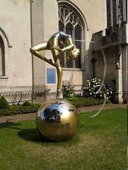 Ribbon Dance statue (Instant London) Tags: london olympics olympicgames ribbondance
