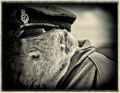 Old Sea Dog (RNLI mechanic) (Nickerzzzzz :)) Tags: bw mono plymouth armedforcesday canonef70300mmisusm oldseadog canon60d