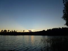P1050095 (SeppoU) Tags: sunset cloud lake suomi finland evening ilta jrvi auringonlasku pilvi nummipusula copyleftby seppouusitupa