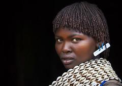 Bana woman, Omo valley, Ethiopia (Eric Lafforgue) Tags: culture shell tribal tribes tradition tribe ethnic tribo hamer ethnology tribu 0210 omo banna thiopien etiopia ethiopie etiopa  etiopija ethnie ethiopi  etiopien etipia  etiyopya