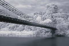 (Charlie_Grant) Tags: bridge trees england river ir scotland suspension union infrared tweed hoya r72
