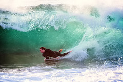 in the tube (Luke Tscharke) Tags: tube barrel wave surfing curl deewhy bodyboarder