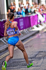 London 2012 Women Marathon: Albina Mayorova (Alexandre Moreau | Photography) Tags: road portrait london race photography women photos kenya russia marathon victory effort ethiopia 2012 cheapside london2012 olypics gelana albinamayorova wwwalexandremoreauphotocom