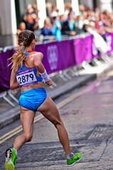 London 2012 Women Marathon: Albina Mayorova (Alexandre Moreau | Photography) Tags: road portrait london race photography women photos kenya russia marathon victory effort ethiopia 2012 cheapside london2012 olypics gelana albinamayorova wwwalexandremoreauphotocom