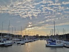 DSCN2393 (HannahBowe) Tags: sunset sky sun lake water beautiful clouds sailboat docks boats pretty sail carlyle