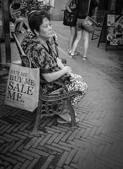 Vintage original (mysaliva) Tags: old woman shopping bag blackwhite shanghai