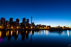 Bathurst Quay (Empty Quarter) Tags: longexposure morning blue toronto canada tower skyline cn dawn early nikon quay tokina hour bathurst f28 cityplace malting citiyscape 1116 d7000