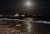 Bournemouth Pier at Night (Peter J Dean) Tags: family sea moon holiday night pier sand break dorset moonlight sandcastle bournemouth fridaynight canonef1635mmf28liiusm piertheatre canoneos7d