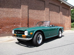 1972 Triumph TR6 (Taylor Player) Tags: new england green car automobile stag antique massachusetts group convertible racing lucas triumph british spitfire lamps acr emerald petersham 44 hardwick leyland roadster brg