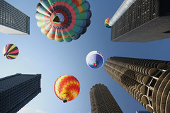 Chicago Balloon Fest - Day 133 (Notkalvin) Tags: chicago festival danger balloons illinois colorful skyscrapers chitown hotairballoons digitalmanipulation windycity balloonfest allmypictures canyouimagine mikekline project366 michaelkline notkalvin notkalvinphotography