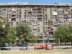 square windows (m.a.r.c.) Tags: new serbia prefab modernism plattenbau belgrade beograd hochhaus belgrad novi wohnungen serbien modernismus