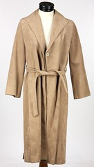 3025. Full Length Suede Coat