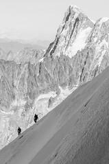 Hiking (not me) (Patrick Ciebilski) Tags: snow alps europe hiking mont blanc montblanc aiguilledumidi