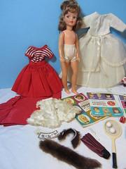 (3) Flea Market Finds - Item B (Foxy Belle) Tags: vintage pepper clothing doll market barbie posing tammy accessories flea posn