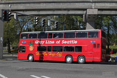 Gray Line of Seattle Hop-On Hop-Off Bus (Can Pac Swire) Tags: seattle city red urban usa bus america us washington downtown tour unitedstates state unitedstatesofamerica tourist american british doubledecker leyland doubledeck grayline hoponhopoff graylineofseattle aimg6345